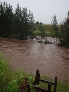 ... and the creek only an hour later